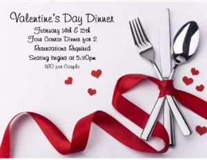 Valentine's Dinner @ Greenwood Country Club